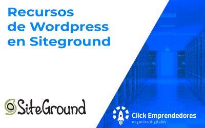 Recursos de WordPress en SiteGround